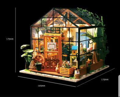 🚚 3D wooden puzzle house with lighting