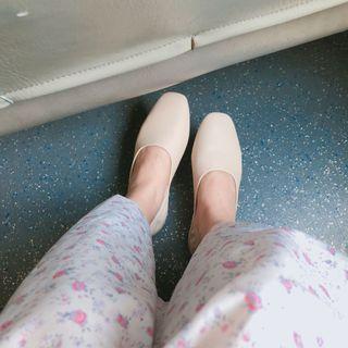 韓國皮質平底鞋 兩穿