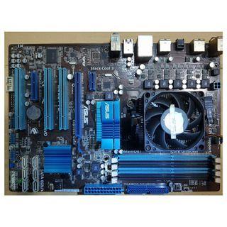 華碩 M4A87TD USB3.0主機板+Athlon IIX4 635四核處理器+DDR3 4G記憶體、附風扇與擋板