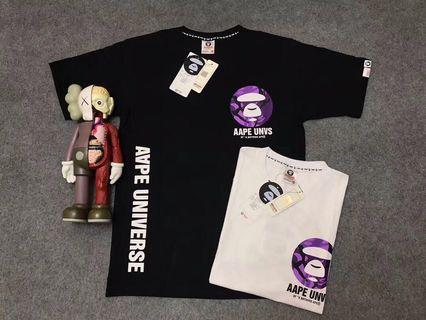 🌸特價款SALES🌸日本AAPE紫迷彩猿人logo短袖Tee 男女同款