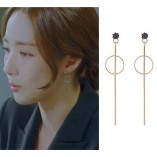 My Private Life KDrama Crystal Drop Down Earrings - New