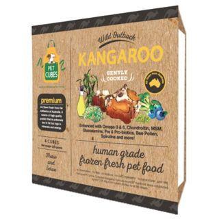PetCubes Complete Kangaroo Frozen Cooked Dog Food