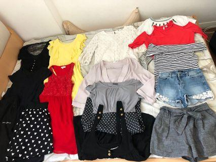 $45 for 17 dresses, tops, shorts, skirts, pants