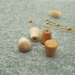 Natural Wood Conical Knob