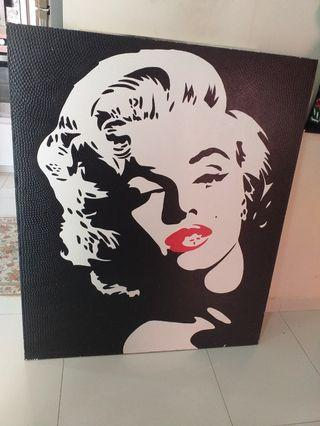 Embose canvas painting