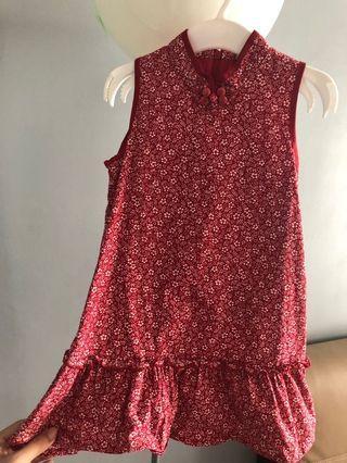 #Carouraya Cheongsam style red dress