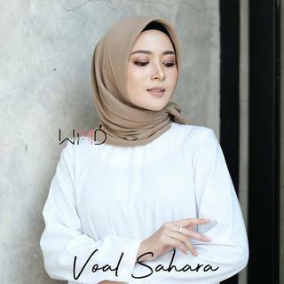 Hijab voal sahara. Segi empat