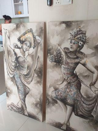 Kecak dance canvas painting real high quality