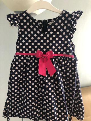 #Carouraya polka dots navy blue dress