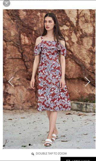 Lorena Off Shoulder Floral Dress