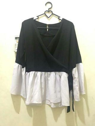 #BAPAU Black White Blouse