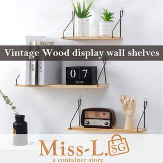 🏅  🏅 TROFAST-VINTAGE WOOD DISPLAY WALL SHELVES