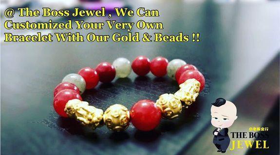 🚚 Customised 999 Gold Bracelets!!