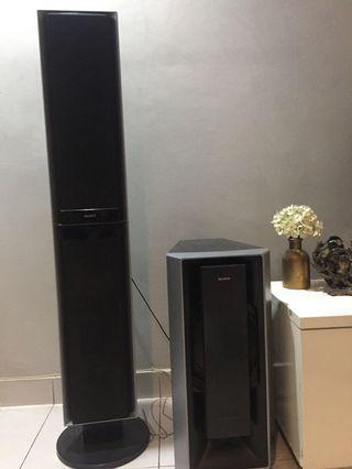 Sony Left, right & center speaker, subwoofer