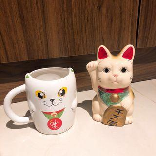Cat Cup & Lucky Cat (included 2)