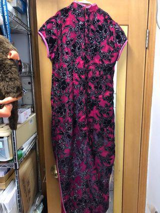 中式旗袍 奶奶衫 外母衫 晚裝 7成新 結婚用 晚宴 婚用 飲宴 登台服