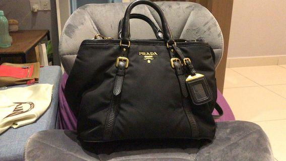 Prada Tessuto 2way handbag . With Authentic card .Seldom use excellent condition like new .