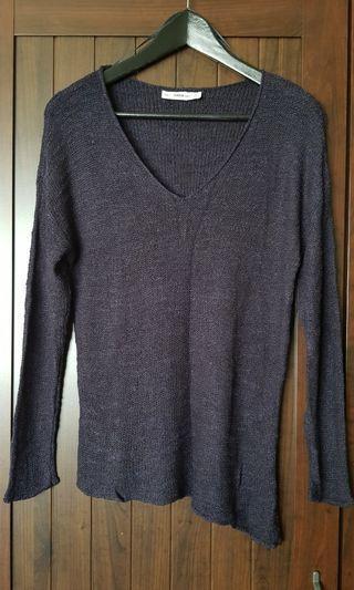 Zara Knit Asymmetric Top