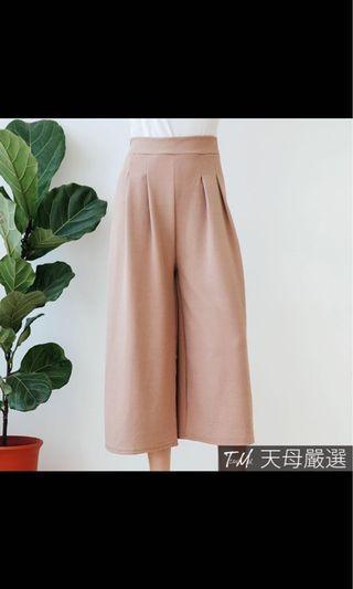 粉藕色寬褲 鬆緊腰
