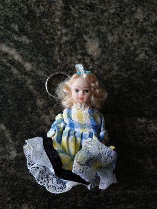 Vintage cute doll keychain