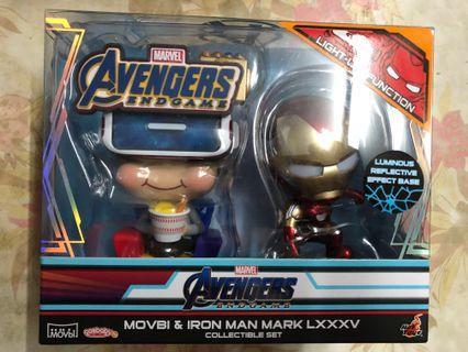 (全新) Hottoys Cosbaby Marvel Avengers 4 End Game 復仇者聯盟 ironman mark 85 & movbi鐵甲奇俠 鋼鐵人