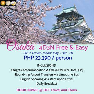 4D3N Osaka Free and Easy Tour Package