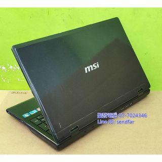 全新電池 大螢幕商務 MSI CX620 i5-450M 4G 500G 獨顯 DVD 15吋筆電 聖發二手筆電
