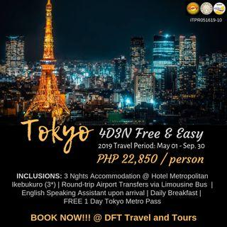 4D3N Tokyo Free and Easy Tour Package