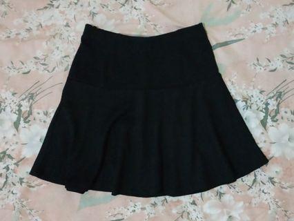#BAPAUBlack Flare Skirt