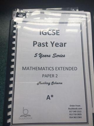 IGCSE Mathematics P2 Marking Scheme