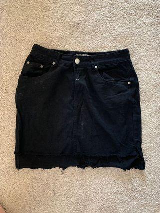Boohoo high waisted skirt