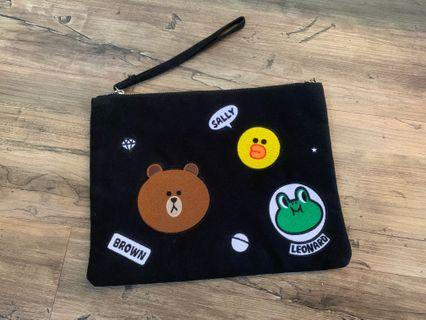 Line Friends ipad pouch/ hand pouch