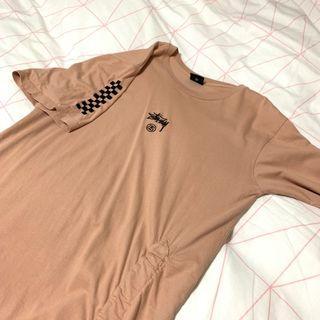 STUSSY BLUSH COLOURED T SHIRT DRESS