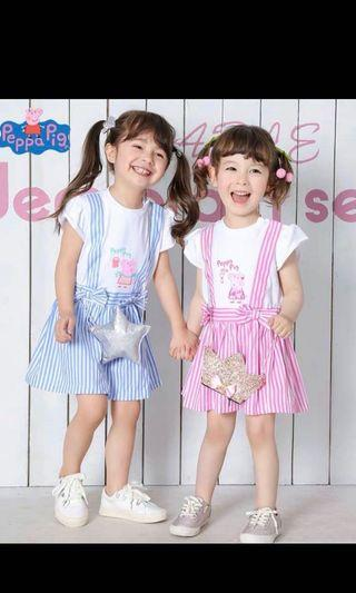 Instock now authentic peppa pig dress size 110x1 and 130x2 one pc each only pink Color