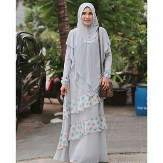#mauvivo NEW Set dress by HijabKyunie size s fit to L