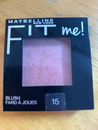 🚚 Maybelline fit me 腮紅 15號
