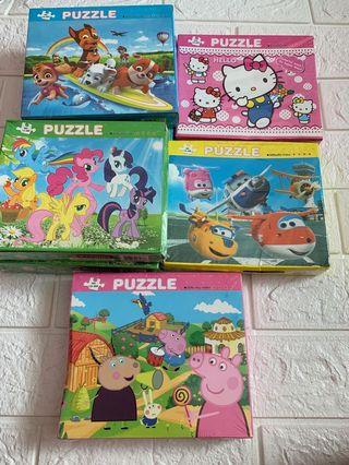 Jigsaw Puzzles 60pcs set brand new instock design - paw patrol / Super wings / my little pony / hello kitty and peppa pig