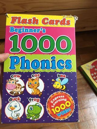 🚚 Phonics Flash Cards - 1000 words