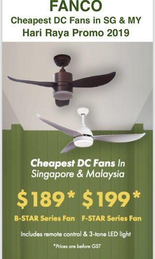 🚚 DC motor ceiling fan special offer