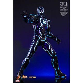 Hot Toys Neon Tech Iron Man Mark IV Diecast