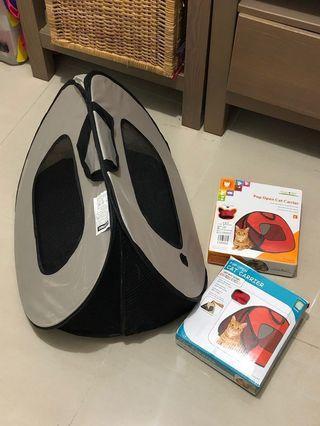 Pop Open Cat / Pet Carrier 寵物拉鏈便攜袋 Travel Bag