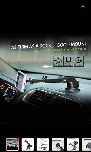 Brand New Baseus Car Magnetic Phone Mount Silver