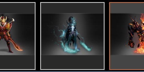 🚚 Dota 2 Shadow Fiend, Legion Commander, Phantom Assassin ARCANA and Invoker Dark Artistry Set (selling invoker set as a whole not individually)