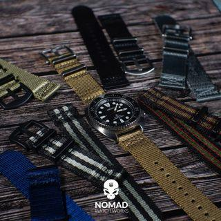 Two Piece Seat Belt Nato Strap (available in 20 and 22mm)