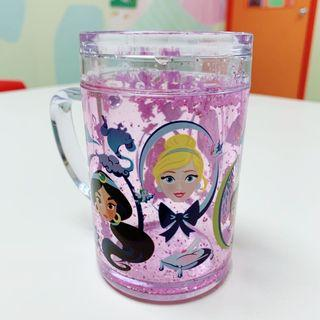 Disney Princess Glitter & Crown Tiara Shake Plastic Cup - Perfect for kids!