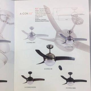 """Acon 52"""" Ceiling Fan + Remote Offer"""