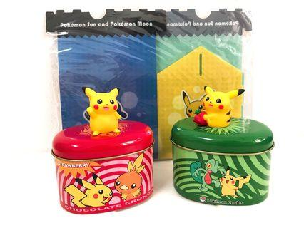Pikachu Two Iron Box & One Plastic Box (included 2)