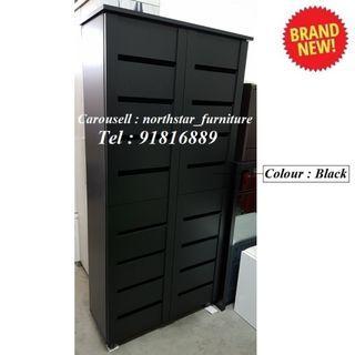 4 Door Tall Shoe Cabinet Shoe Rack