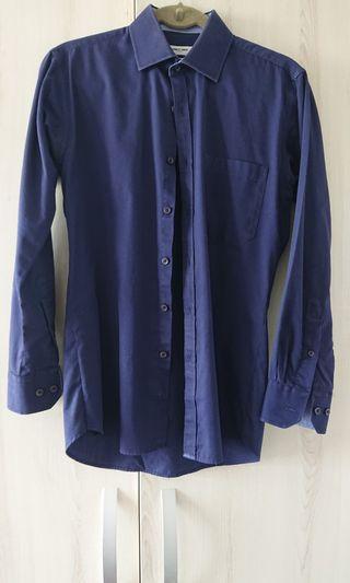 """🚚 Navy blue shirt for men 15"""""""
