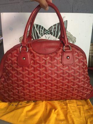 Goyard jeanne cloth red bag